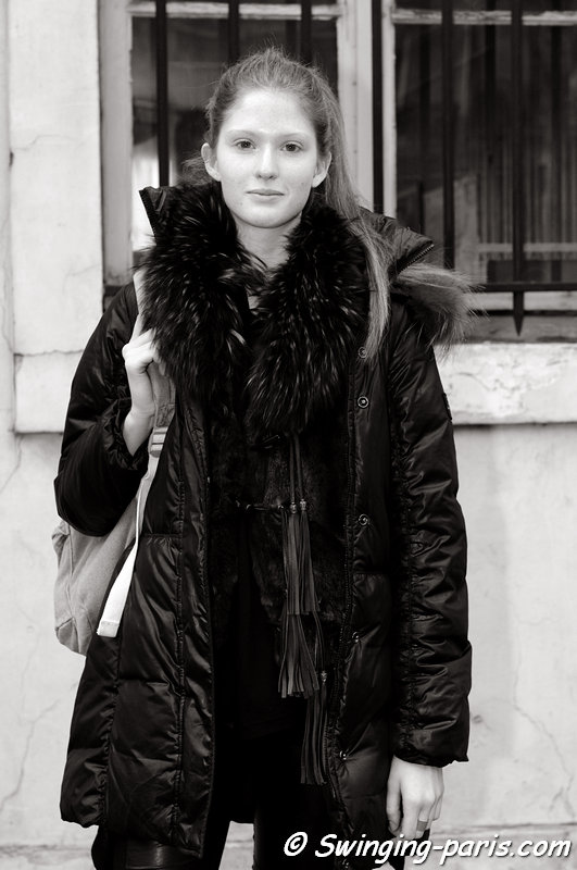 Nina Vodopivec after Moon Young Hee show, Paris F/W 2013 RtW Fashion Week, February 2013