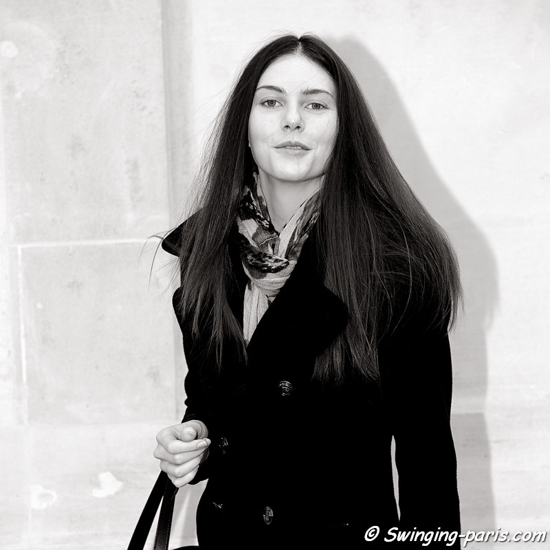 Olga Ovchynnikova (Ольга Овчинникова) leaving Moon Young Hee show, Paris F/W RtW 2012 Fashion Week, February 2012
