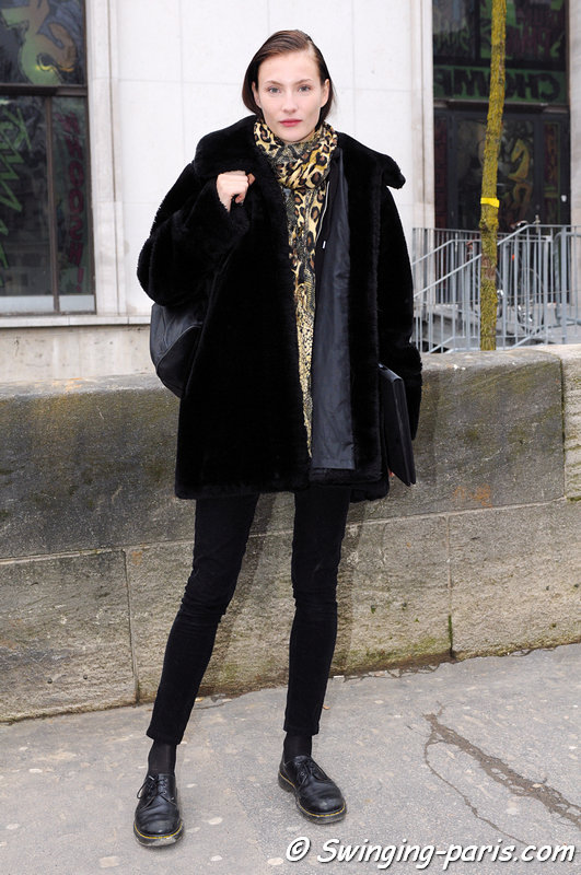 Olivia Thornton outside Véronique Branquinho show, Paris F/W 2013 RtW Fashion Week, February 2013