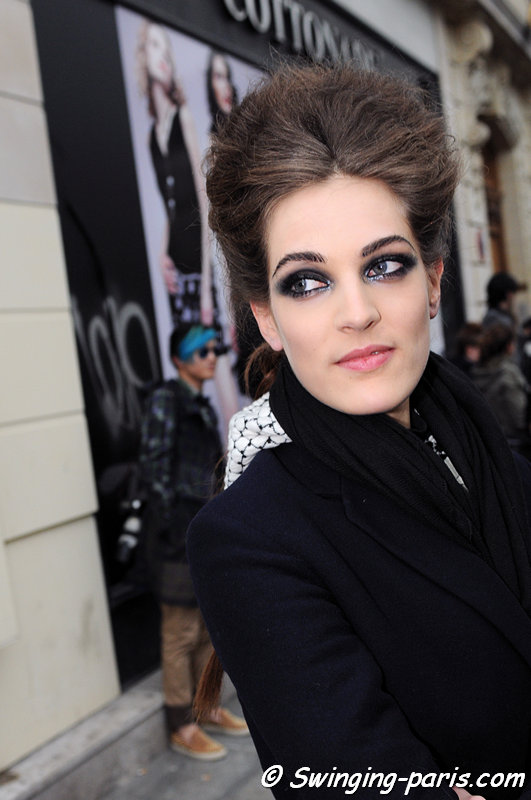 Othilia Simon outside Jean Paul Gaultier show, Paris Haute Couture S/S 2013 Fashion Week, January 2013