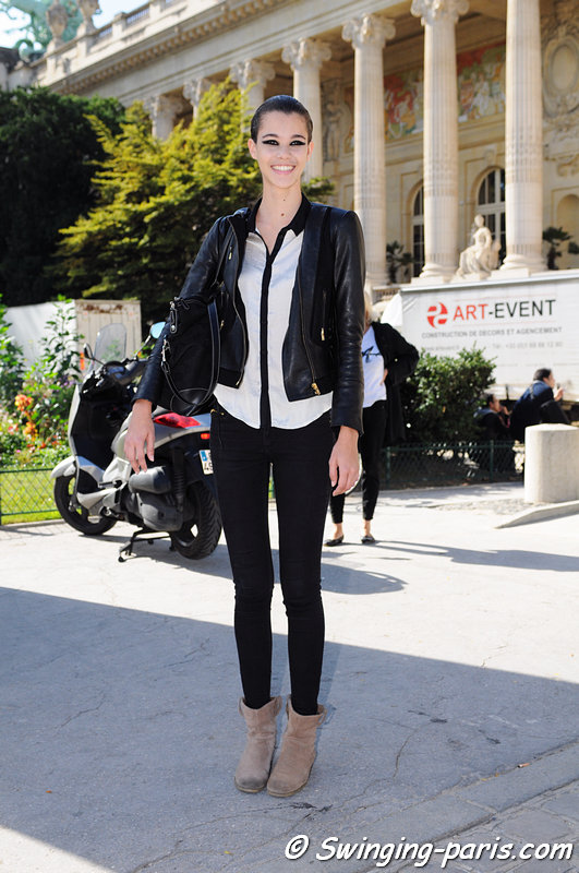 Pauline Hoarau leaving Lonard show, Paris S/S 2013 RtW Fashion Week, October 2012