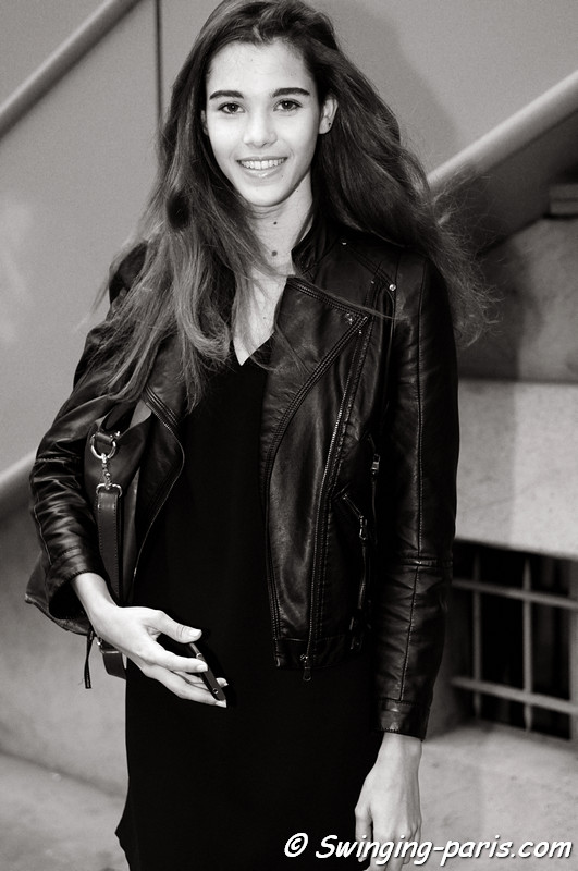 Pauline Hoarau leaving Anthony Vaccarello show, Paris S/S 2013 RtW Fashion Week, September 2012
