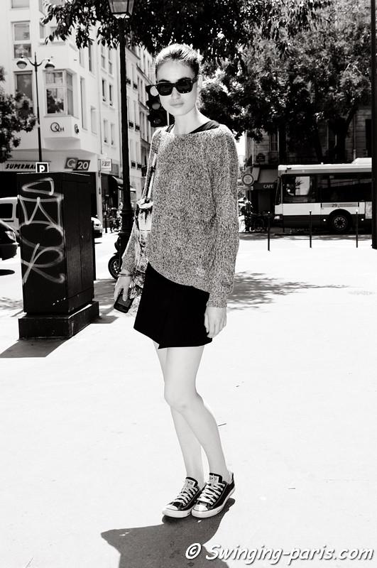 Pauline van der Cruysse leaving Yiqing Yin show, Paris Haute Couture F/W 2012 Fashion Week, July 2012