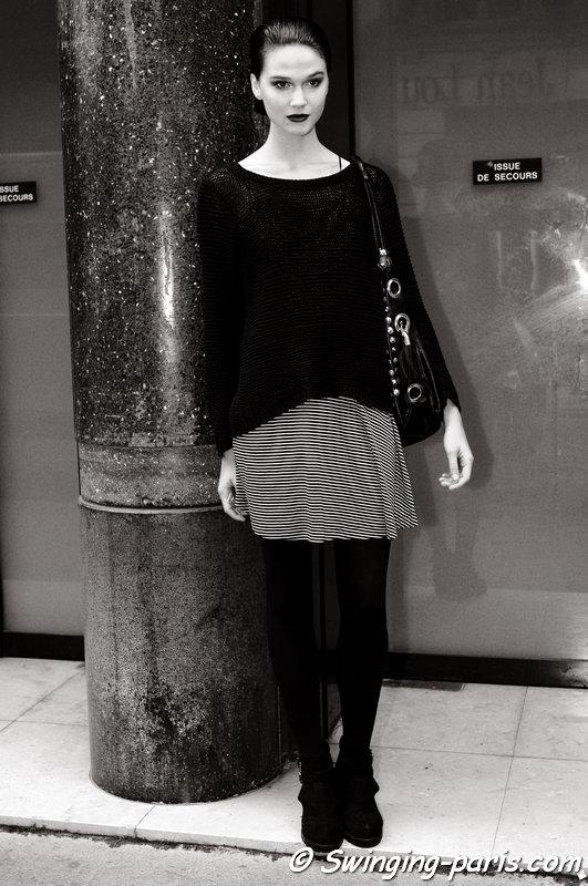 Rachel Finninger leaving Ralph & Russo show, Paris Haute Couture F/W 2014 Fashion Week, July 2014