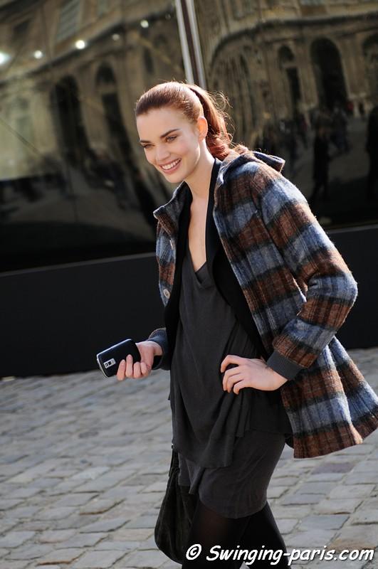 Rianne Ten Haken après un défilé Louis Vuitton