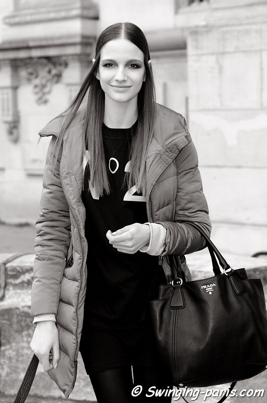 Roberta Cardenio outside Guy Laroche show, Paris F/W 2013 RtW Fashion Week, February 2013