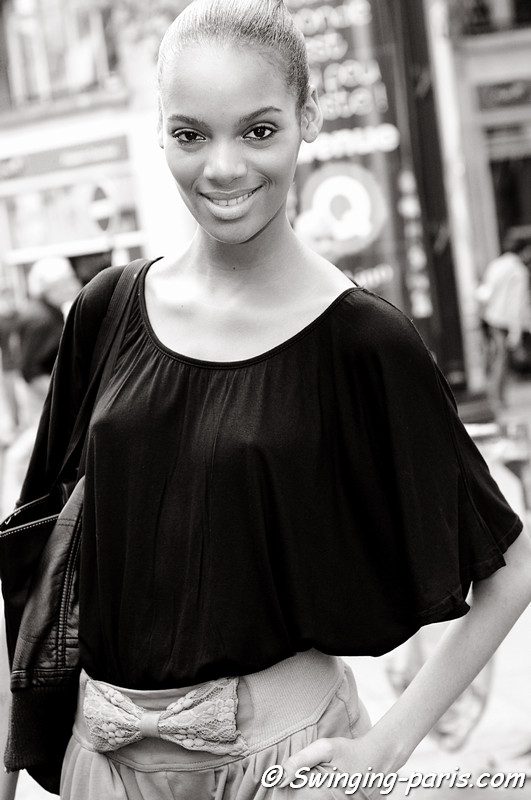 Roberta Narciso outside Paco Rabanne show, Paris S/S 2012 Fashion Week, October 2011
