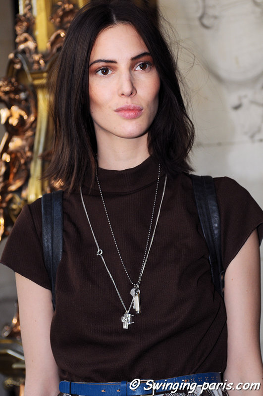 Ruby Aldridge outside Valentin Yudashkin show, Paris F/W 2013 RtW Fashion Week, March 2013