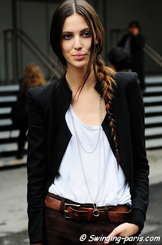 Ruby Aldridge outside Valentino Show