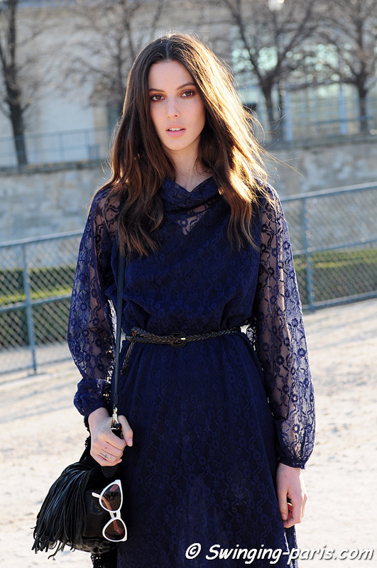 Ruby Aldridge (NEXT) leaving Chlo show, Paris Fashion Week, March 2011