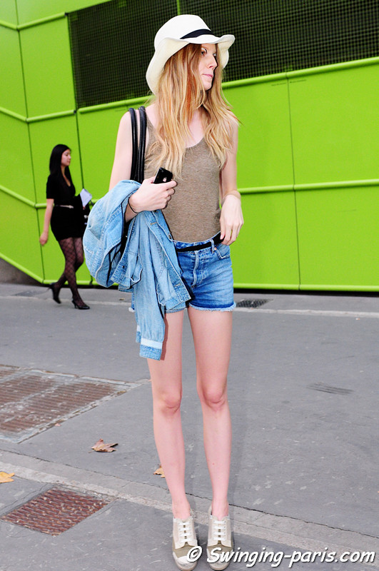 Saara Sihvonen after Commuun show, Paris S/S 2012 Fashion Week, September 2011