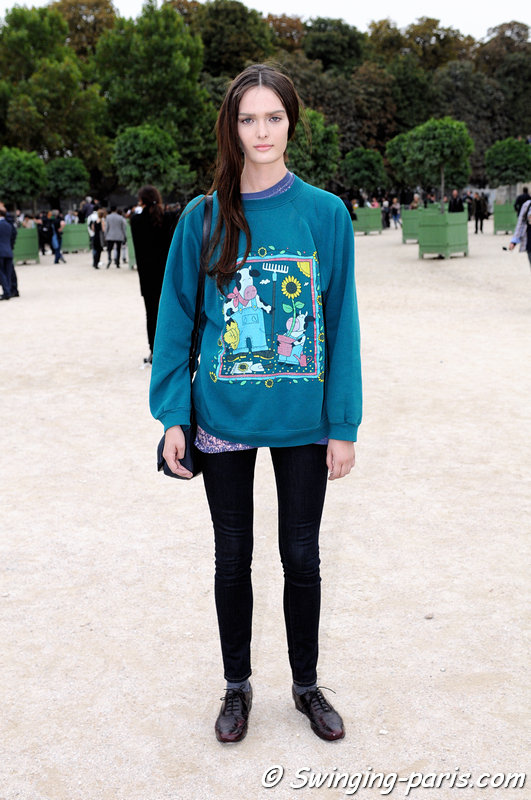 Sam Rollinson After Valentino Show Swinging Paris