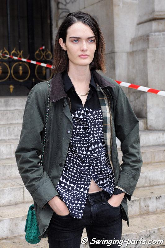 Sam Rollinson outside Stella McCartney show, Paris S/S 2015 RtW Fashion Week, September 2014