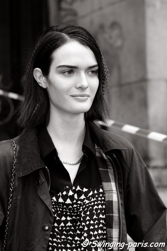 Sam Rollinson outside Stella McCartney show, Paris S/S 2015 RtW Fashion Week, September 2014