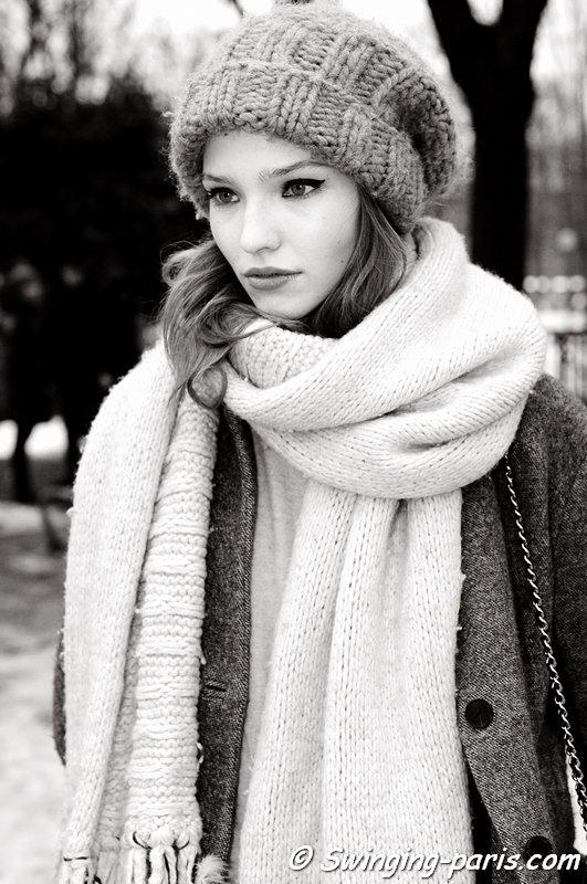 Sasha Luss (Саша Лусс) leaving Ulyana Sergeenko show, Paris Haute Couture S/S 2013 Fashion Week, January 2013