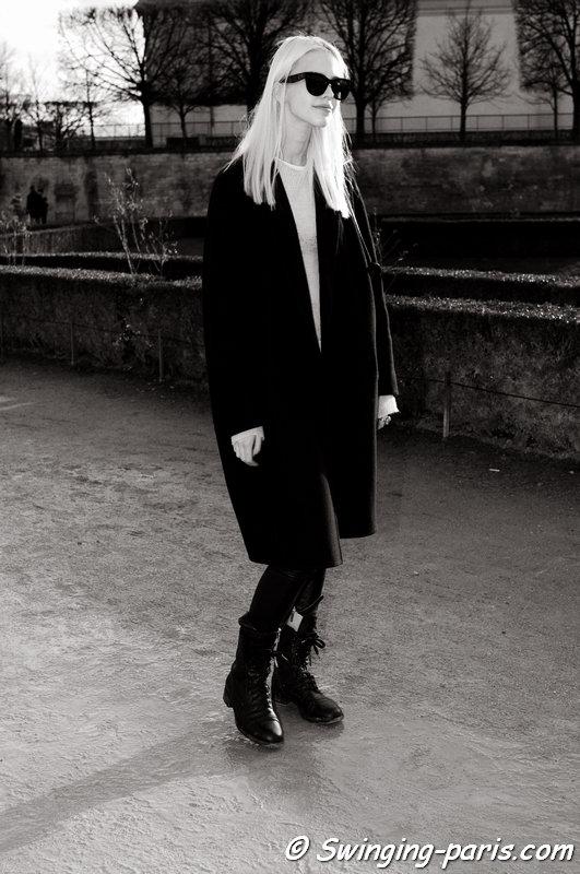Sasha Luss (Саша Лусс) leaving Elie Saab show, Paris F/W 2014 RtW Fashion Week, March 2014