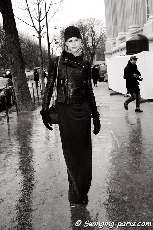 Saskia De Brauw leaving Louis Vuitton show, Paris S/S 2014 RtW Fashion Week, October 2013