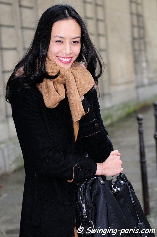 Si Tanwiboon leaving Agnès B show, Paris F/W RtW 2012 Fashion Week, March 2012