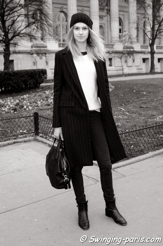 Sigrid Agren leaving Chanel show, Paris Haute Couture S/S 2014 Fashion Week, January 2014