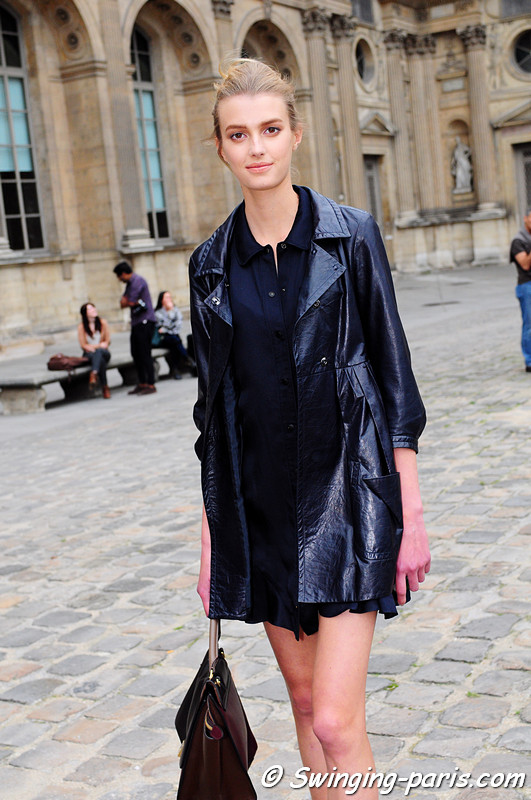 Sigrid Agren outside Louis Vuitton show, Paris S/S 2012 Fashion Week, September 2011