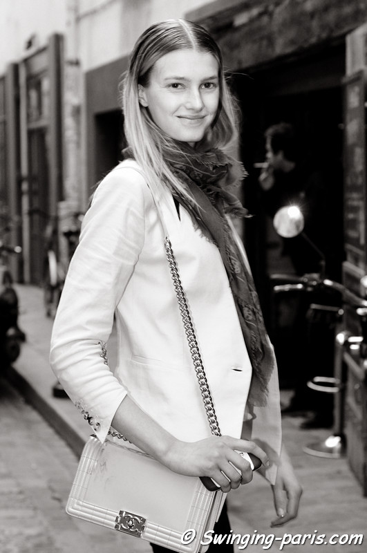 Sigrid Agren leaving Cédric Charlier show, Paris S/S 2013 RtW Fashion Week, September 2012