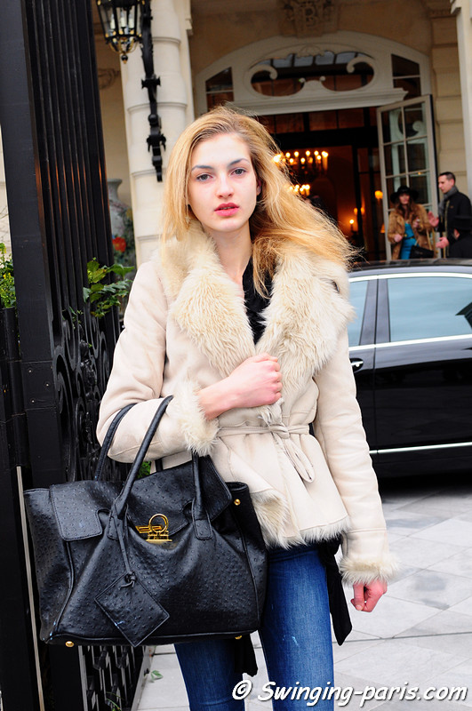 Simona Andrejic outside Alexis Mabille show, Paris Haute Couture S/S 2012 Fashion Week, January 2012