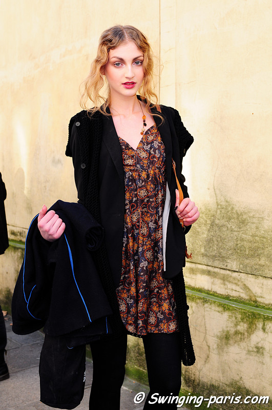 Simona Andrejic outside Christian Dior show, Paris Fashion Week, March 2011