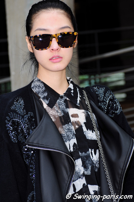 So Young Kang (강소영) outside Manish Arora show, Paris F/W RtW 2012 Fashion Week, March 2012