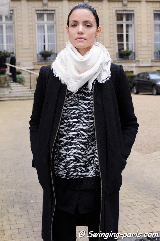 Sofia Resing outside Rad Hourani show, Paris Haute Couture S/S 2014 Fashion Week, January 2014