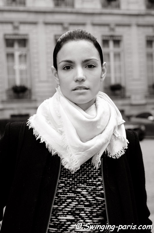 Sofia Resing outside Rad Hourani show, Paris Haute Couture S/S 2014 Fashion Week, January 2014