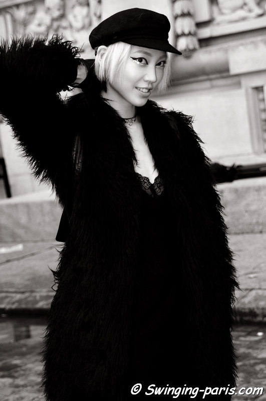 Soo Joo Park (수주 박) leaving Chanel show, Paris Haute Couture S/S 2014 Fashion Week, January 2014