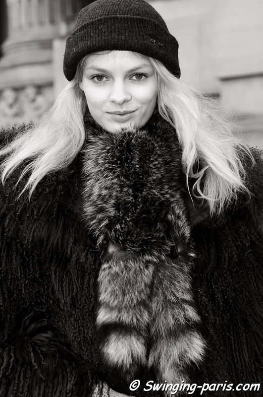 Stef van der Laan exiting Chanel show, Paris Haute Couture S/S 2013 Fashion Week, January 2013