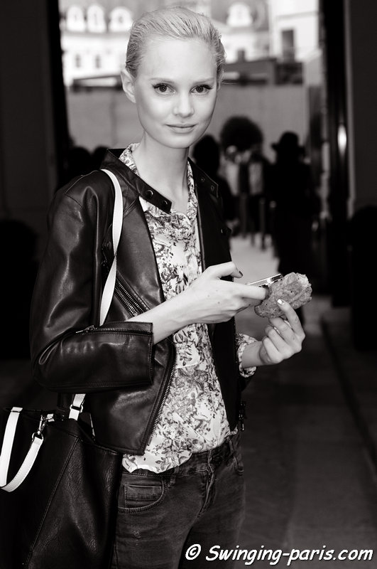 Steffi Soede outside Alexis Mabille show, Paris Haute Couture F/W 2013 Fashion Week, July 2013