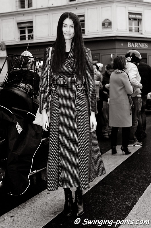 Sui He leaving Hermès show, Paris F/W RtW 2012 Fashion Week, March 2012