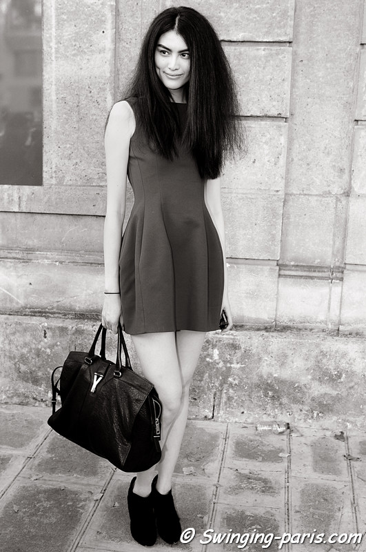 Sui He outside Rochas show, Paris S/S 2012 Fashion Week, September 2011