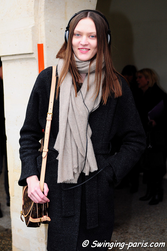 Svetlana Mukhina (Светлана Мухина) after Yiqing Yin show, Paris Haute Couture S/S 2012 Fashion Week, January 2012