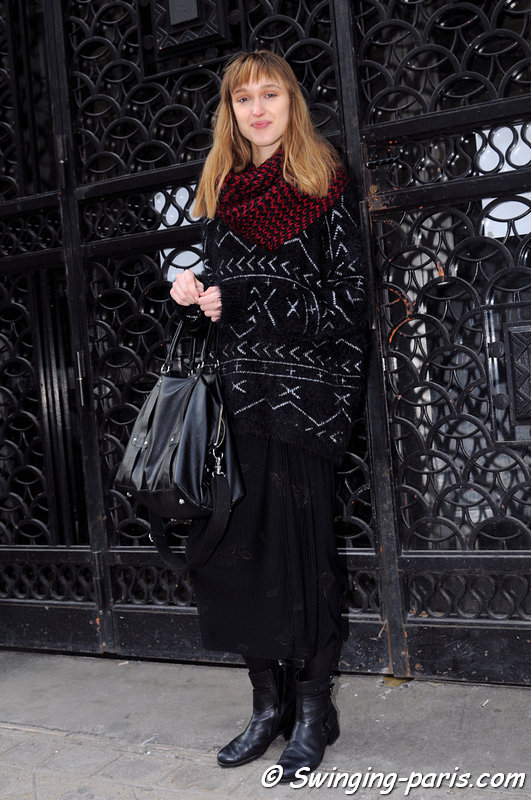 Tabea Weyrauch exiting Maison Martin Margiela show, Paris Haute Couture S/S 2014 Fashion Week, January 2014