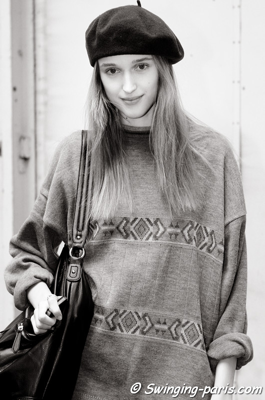 Tabea Weyrauch outside Nicolas Andreas Taralis show, Paris S/S 2013 RtW Fashion Week, September 2012