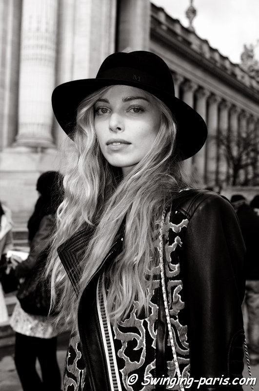 Tanya Dziahileva (or Dyagileva, Таццяна – Таня – Дзягілева) leaving Guy Laroche show, Paris F/W 2014 RtW Fashion Week, February 2014