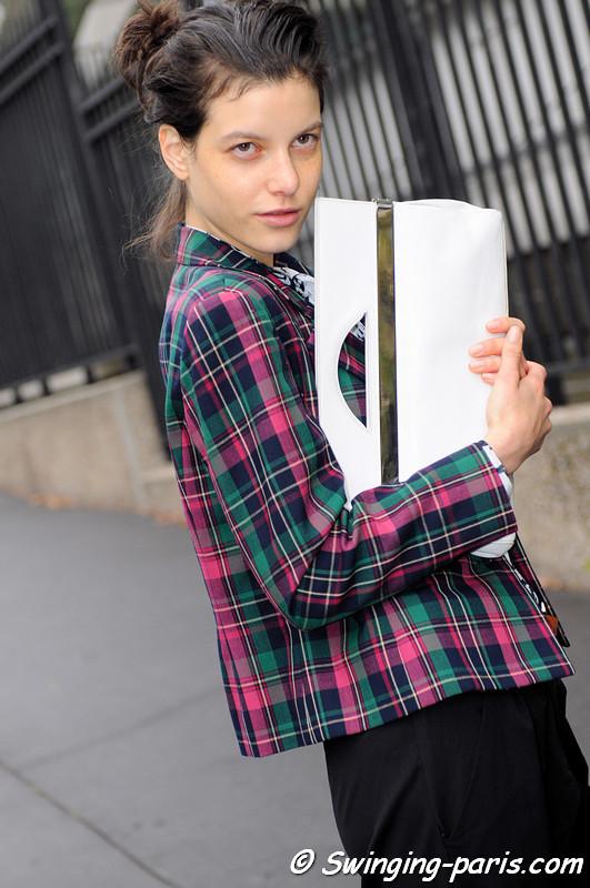 "Tatiana ""Tati"" Cotliar leaving Miu Miu show, Paris S/S 2013 RtW Fashion Week, October 2012"