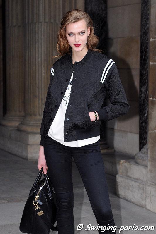 Tess Hellfeuer leaving Louis Vuitton show, Paris F/W 2013 RtW Fashion Week, March 2013