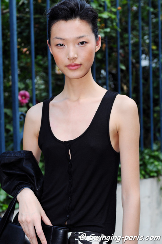 Tian Yi () leaving Bouchra Jarrar show, Paris Haute Couture F/W 2012 Fashion Week, July 2012