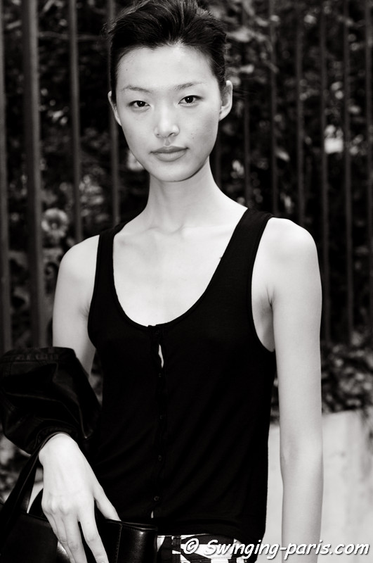 Tian Yi (田毅) leaving Bouchra Jarrar show, Paris Haute Couture F/W 2012 Fashion Week, July 2012
