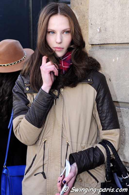 Tori Ray outside Alexis Mabille show, Paris F/W 2014 RtW Fashion Week, February 2014