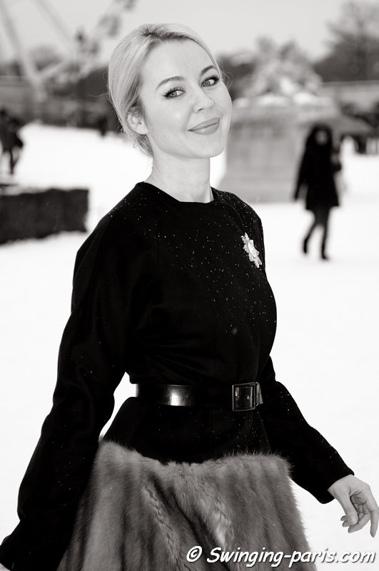 Ulyana Sergeenko (Ульяна Сергеенко) before Christian Dior show, Paris Haute Couture S/S 2013 Fashion Week, January 2013