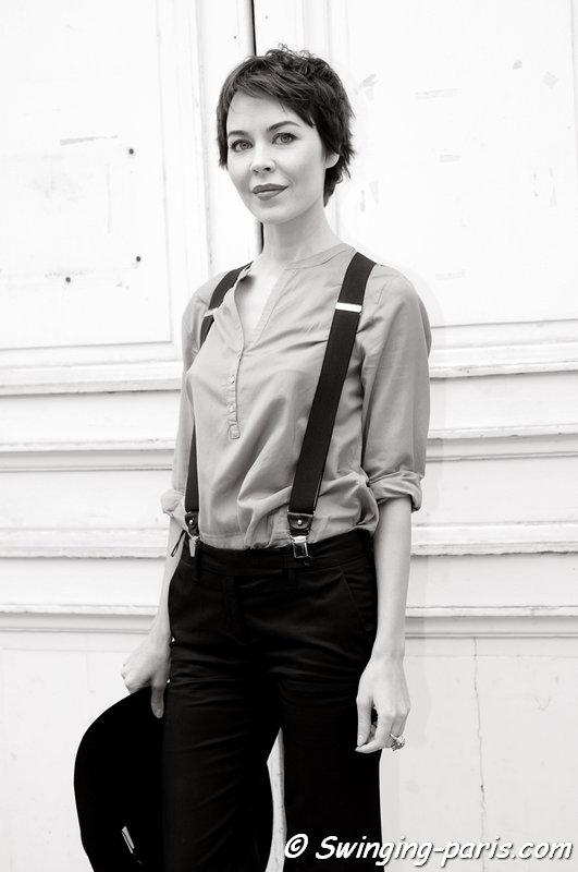 Ulyana Sergeenko (Ульяна Сергеенко) before Giambattista Valli show, Paris S/S 2014 RtW Fashion Week, September 2013
