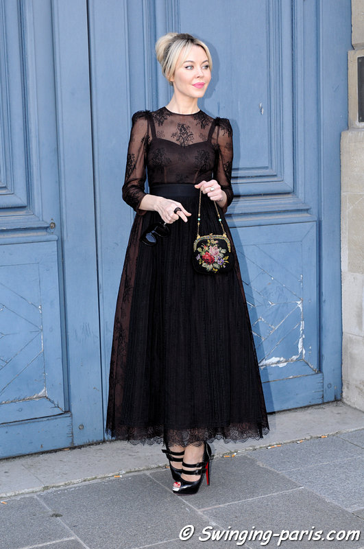 Ulyana Sergeenko ( ) outside Giambattista Valli show, Paris F/W 2013 RtW Fashion Week, March 2013