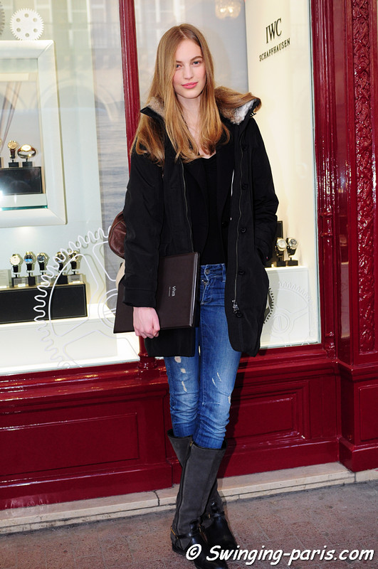 Vanessa Axente outside Barbara Bui show, Paris F/W RtW 2012 Fashion Week, March 2012