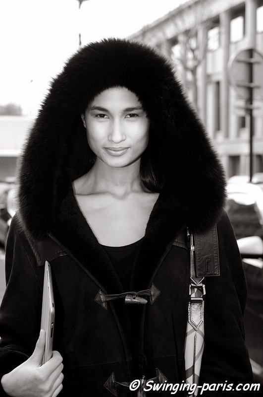Varsha Thapa outside Steffie Christiaens show, Paris F/W 2013 RtW Fashion Week, February 2013