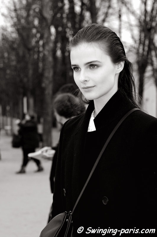 Vasilisa Pavlova (Василиса Павлова) leaving Valentino show, Paris F/W 2014 RtW Fashion Week, March 2014